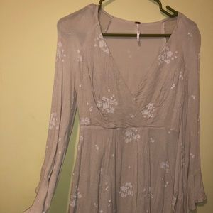 Free people flowy long sleeved dress